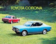 1972 Toyota Corona 14-page Original Canada Car Sales Brochure Catalog - English