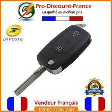 Clé Coque Pour Audi A2 A3 A4 A6 A8 TT S3 S4 2 Boutons Telecommande Lame CR2032