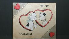 Vintage Valentines Day Card To My Valentine If You'Ll Be Mine Why I'Ll Be True