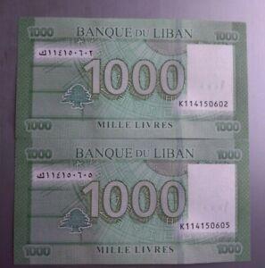 1000 livres Lebanon X 2