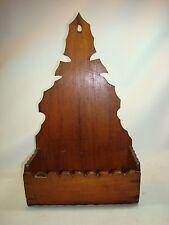 Antique Folk Art Pine Wall Box Hand Crafted