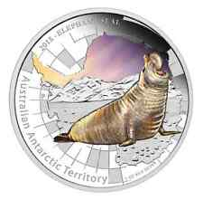 Australia Antarctic Territory Series – Elephant Seal 2015 1oz Silver Proof Coin