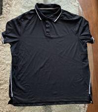 Lululemon Mens Black Polo Shirt Sz 2Xl