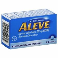 Aleve Tablets 24-Count Naproxen sodium, 220 mg - pain reliever/fever reducer