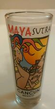 X-Rated Tall MayaSutra Cancun Mexico Shot Glass
