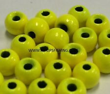 """Tungsten Fly Tying Beads Hot Yellow 1.5 Mm 1/16 """" 100 Count"""