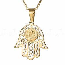 Men Amulet Necklace Hand Saint Benedict Medal Pendant Women Christian Necklaces