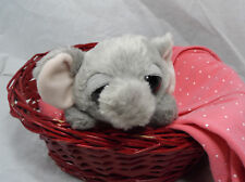 "Aurora World Dreamy Eyes 6"" Grey Gray Elephant Beanbag Plush"
