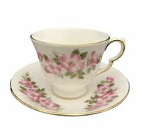 Queen Anne Bone China Cup Saucer Set Floral 8672 England