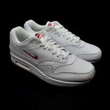 NWT Nike Air Max 1 Premium SC Jewel Swoosh White Red Men's Sneakers DS AUTHENTIC