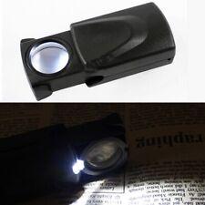 Lupe Mikroskop Juwelier Uhrmacher LED Licht 30x Vergrößerungsglas Taschenlupe