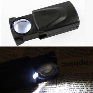 Taschenlupe LED Lupe Mikroskop Juwelier Uhrmacher Licht 30x Vergrößerungsglas