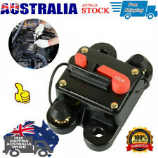 30A-300A Circuit Breaker Car Audio Fuse Holder Resettable Mounted Panel DC 12V