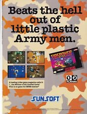 Original 1993 Sunsoft FIREPOWER 2000 Nintendo SNES video game print ad page