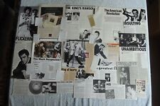 ELVIS PRESLEY - LARGE MAGAZINE CUTTINGS COLLECTION - CLIPPINGS, PHOTOS X116.