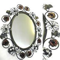 Wandspiegel 60x48cm Luxus Spiegel Glitzernde Strasssteine Schwarz 3D Glamour NEU