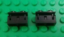 Lego Black 1x2 Interlocking Hinge Bricks Swivels Blocks - 2 pieces