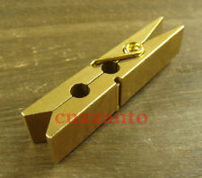 Retro Solid brass paperclip Clothespin clamp Z242A