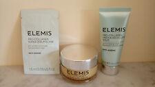 Elemis Pro-Collagen Neck & Decollete Balm 15ml,Cleansing Balm 20g, Elixir 1.5ml