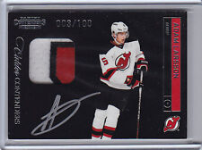 2011-12 CONTENDERS ADAM LARSSON RC PATCH AUTO /100 #231 3clrs