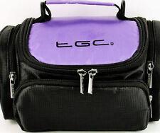 Purple & Black Case Bag for Canon EOS Rebel T4i 18-135mm IS STM Lens Kit Camera