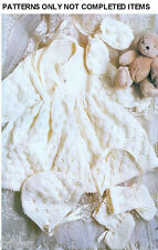 Knitting PATTERNS Babies Christening Dresses Shawl Sweaters Bonnets Booties