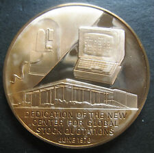 1970 Ultronic Systems Corp. Global Stock Quotations Service Commemorative Medal!