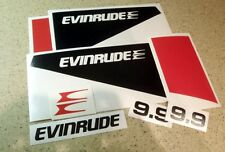 Evinrude Vintage Outboard Motor 9.9 Decal Kit FREE SHIP + FREE Fish Decal!