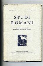 STUDI ROMANI#Trimestrale Ist. Studi Romani - Anno XIII - N.2#Aprile/Giugno 1965