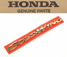 Genuine Honda Left Side Cover Emblem 98 99 00 GL1500 Goldwing OEM Badges  #c54
