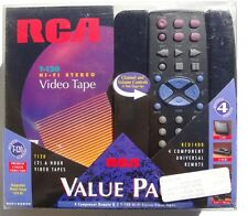 NEW RCA RCU-1400 4 Component UNIVERSAL Remote & 2 T-120 Hi-Fi Stereo Video Tapes