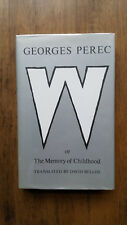 Georges Perec – W or The Memory of Childhood (1st/1st UK 1988 hb with dw)