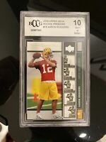 2005 UPPER DECK PREMIERE AARON RODGERS GREEN BAY PACKERS ROOKIE BCCG 10 BGS PSA