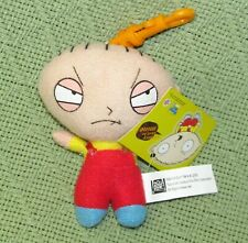 """FAMILY GUY STEWIE CLIP ON PLUSH WITH HANG TAG 4"""" MINI STUFFED ANIMAL 2005 TOY"""