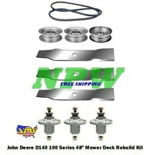 "48"" Mower Deck Kit Fits John Deere LA145 LA155 100 Series Blades Spindles"