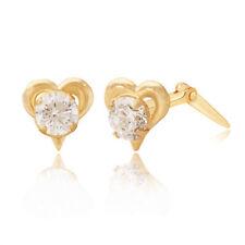 Heart Cubic Zirconia Stud Costume Earrings
