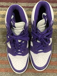 Nike Dunk Sky Hi Light Bone Sail Court Purple Size 8 Wedge 528899-054- No BOX