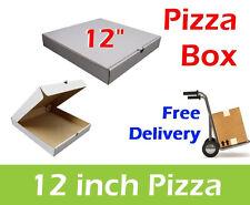 """100 Plain White Pizza Boxes 12"""" Inch Pizza Box, Takeaway Box, Postal Boxes"""