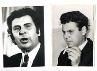 GRECIA MÚSICA MIKIS THEODORAKIS LOTE DE 2 FOTOS B./N.DE AGENCIA KEYSTONE 1968