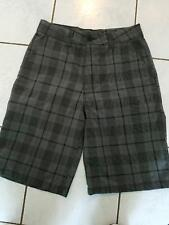 O'Neill Men's Chino Style Shorts NwoT Black Gray Plaid Size 30