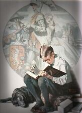 ART DECO KNIGHT NORMAN ROCKWELL PRINT JANUARY 1923