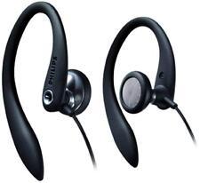 Philips SHS3200BK/37 Flexible Earhook Headphones, Black, New,