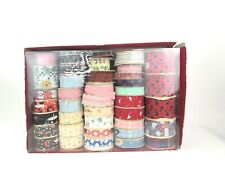 Vintage Ribbon Lot of 39 Novelty Halloween Birthday Scottie Dogs Country Floral