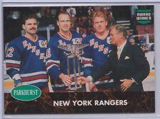 1991-92 Parkhurst PHC #8 New York Rangers Mark Messier Brian Leetch