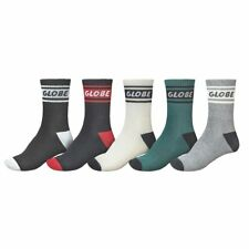 Globe Socks 5 Pack Schooler Crew Assorted Colour Size 7-11 Skateboard Sox