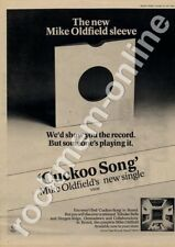 Mike Oldfield Cuckoo Song VS198 '45 Advert 1977