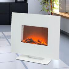 Wand Stand Elektro Kamin Heizgerät LED Flammen Effekt Timer Fernbedienung wei�Ÿ