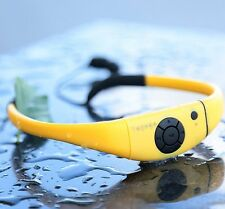 Swimming Surfing SPA Sports Waterproof 8GB Yellow MP3 Player Headphone