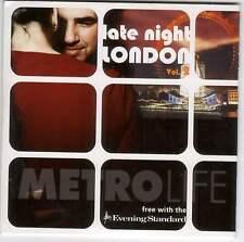 LATE NIGHT LONDON VOL 2 - PROMO CD (2003) MATT MONRO, LENA HORNE, VIKKI CARR ETC