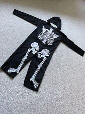 Boys Girls Skeleton Halloween Costume Age 7-9
